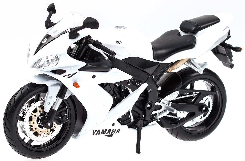 yamaha yzf r1 rn12 bianco maisto 1 12 modellino moto. Black Bedroom Furniture Sets. Home Design Ideas