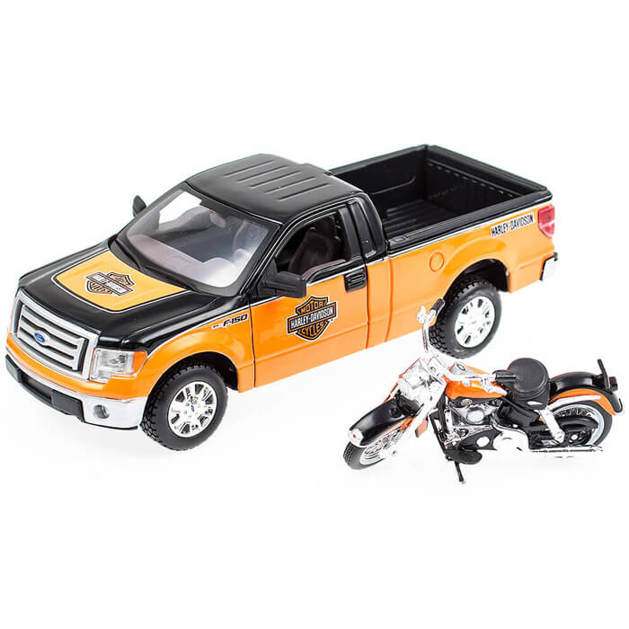ford f 150 stx harley davidson mit flh duo glide 1958 maisto 1 24 modell auto ebay. Black Bedroom Furniture Sets. Home Design Ideas