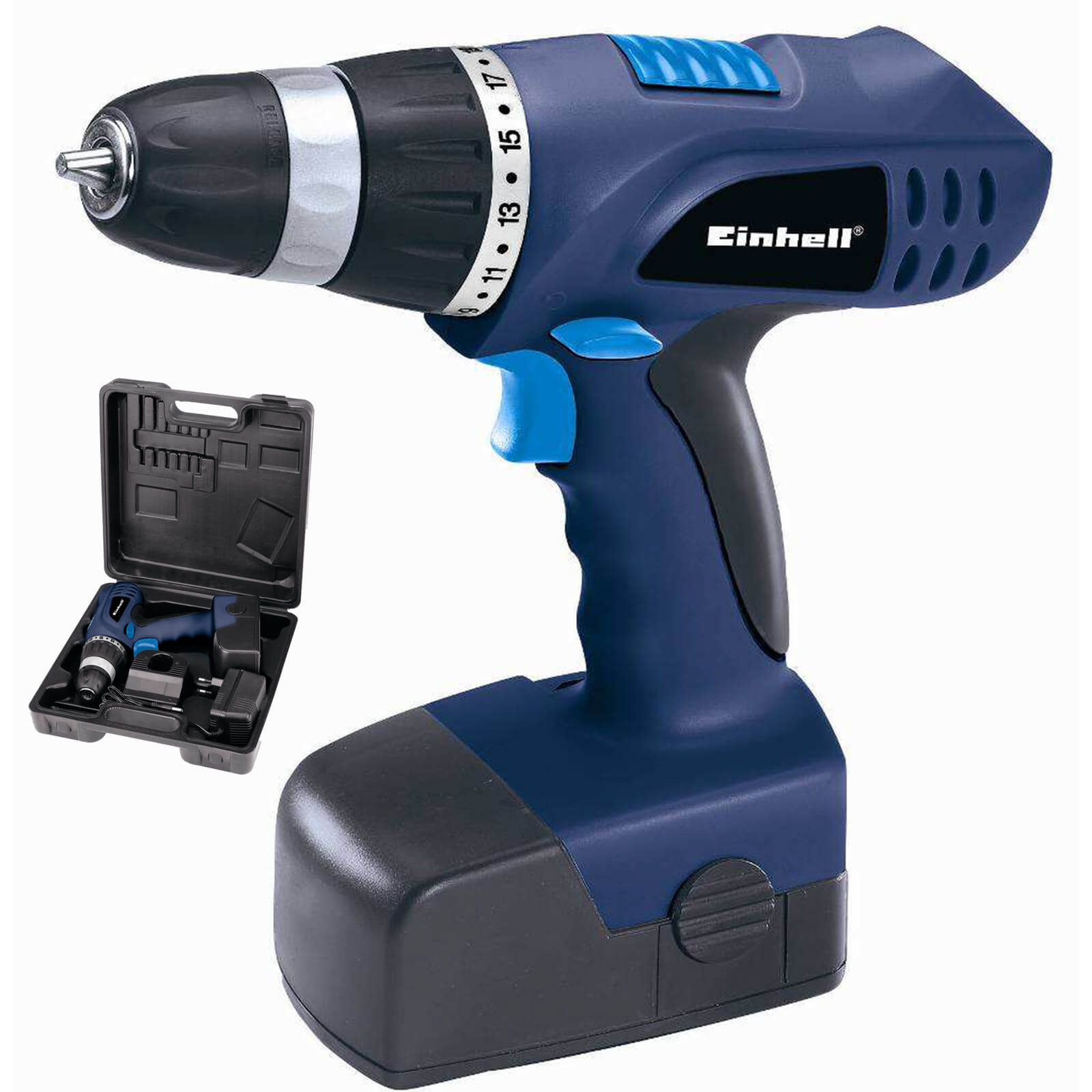 einhell bt cd 18 v akkuschrauber set blue akkubohrer akku bohrschrauber 18 volt ebay. Black Bedroom Furniture Sets. Home Design Ideas