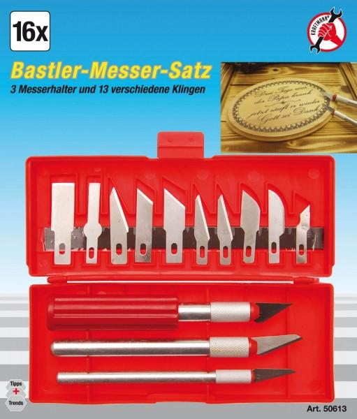 BGS 50613 Bastlermesser-Satz 16-tlg.