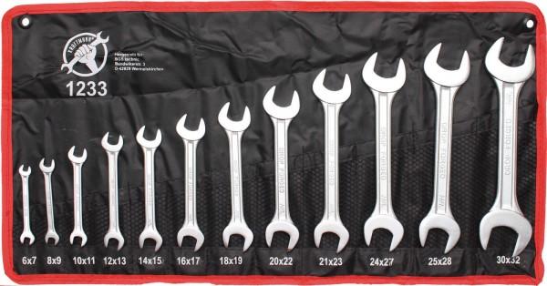 BGS 1233 Doppelmaulschlüssel-Satz, 6x7-30x32 mm, 12-tlg.
