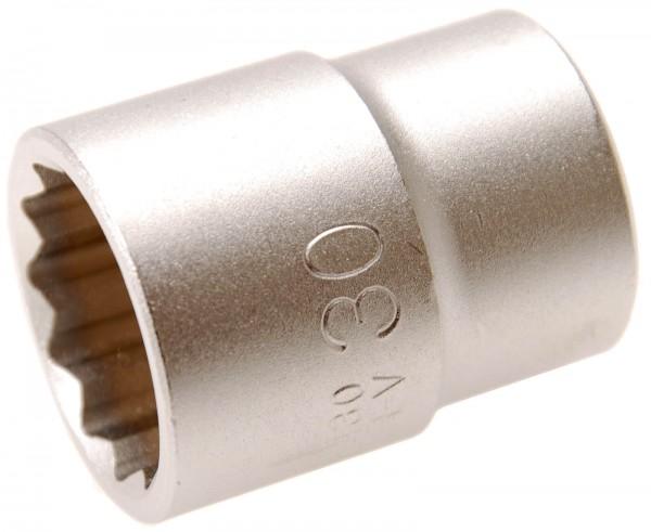BGS 7430 Steckschlüssel-Einsatz, 20 (3/4), 12-kant, 30 mm