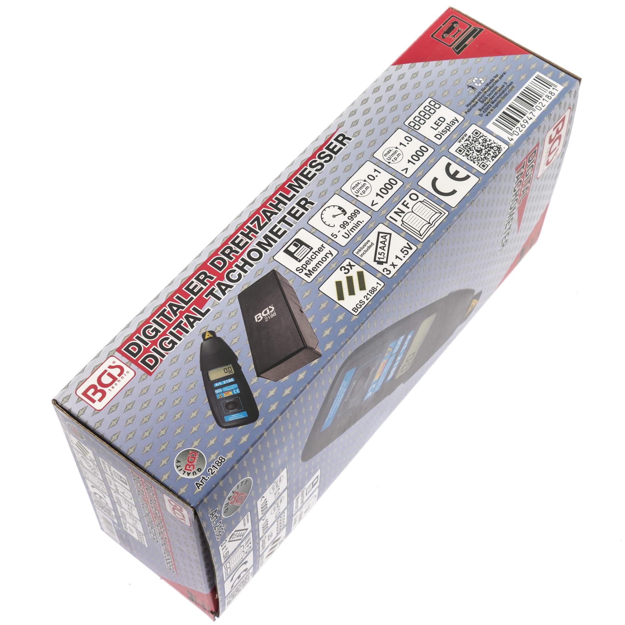 BGS 2188 Digitaler Drehzahlmesser Laser Messgerät Digital LCD Tachometer