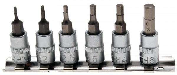BGS 5151 Biteinsätze 6,3 (1/4), Innen-6-kant, 1,5 - 6 mm