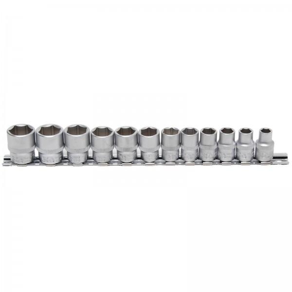 BGS 9104 Steckschlüssel-Einsatz-Set, 10 (3/8), 6-kant, 8 - 19 mm, 12-tlg.