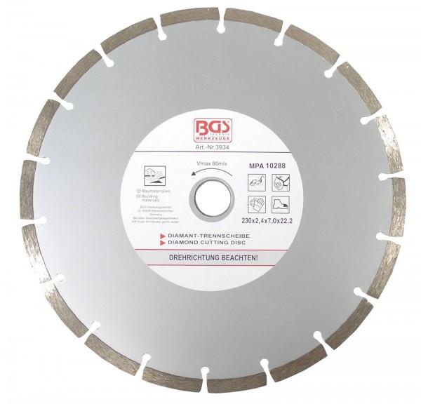 BGS 3934 Segment-Trennscheibe für Trockenschnitt, 230 mm