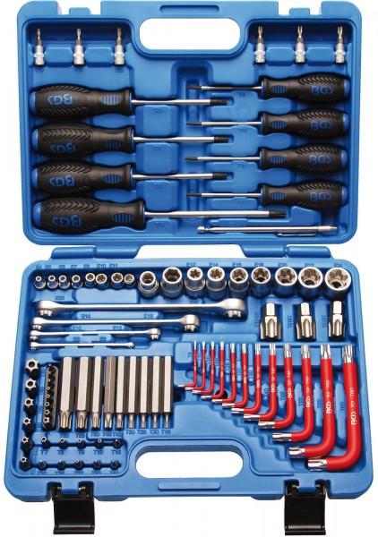BGS 7849 T-Profil Werkzeugsortiment, 6,3 (1/4) + 12,5 (1/2), 84 tlg.
