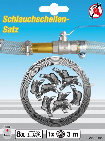 """BGS 1794 Schlauchschellen-Set """"Endlos"""" Rostfrei"""