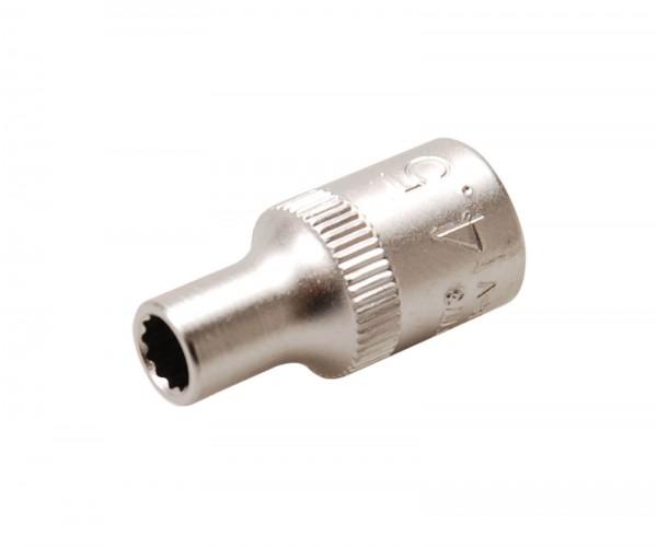 BGS 10773 Steckschlüssel-Einsatz, 6,3 (1/4), 12-kant, 4,5 mm