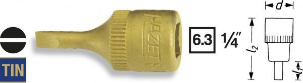 Hazet 8503-1.2X8 Schraubendreher-Einsatz , 63 mm 1/4 Zoll Schlitzschrauben