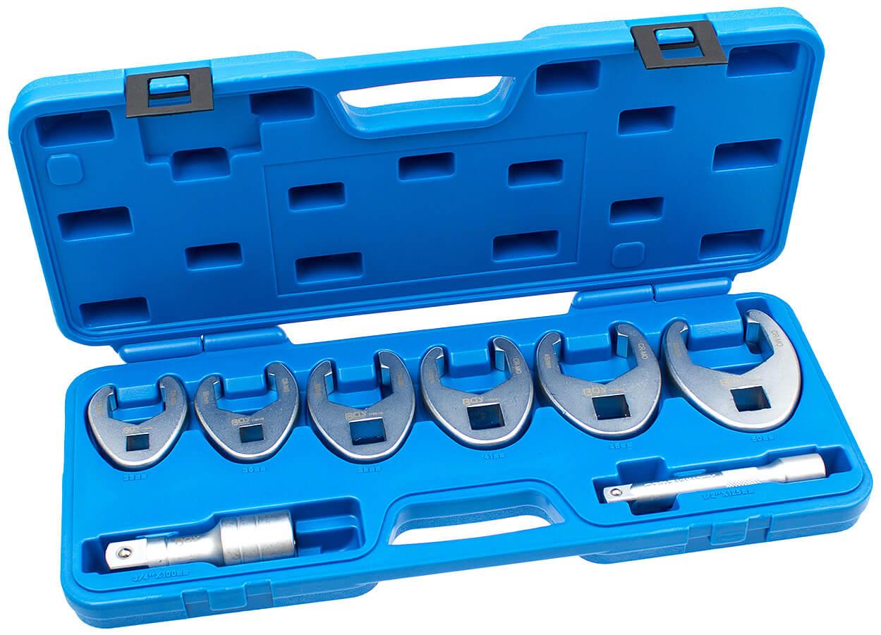 Hahnenfuß Krähenfuß Steckschlüssel Satz 15tlg Leitungsschlüssel Werkzeug 8-24mm