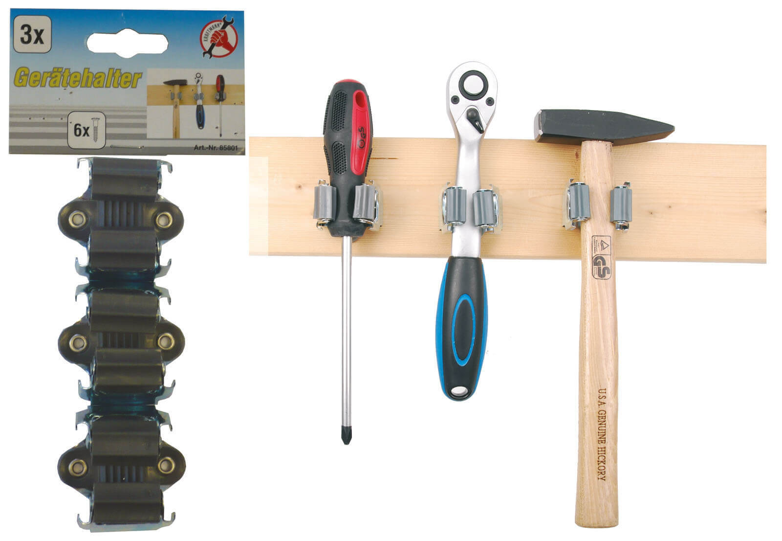 besenhalter gerätehalter wandhalter werkzeug halter gartengeräte
