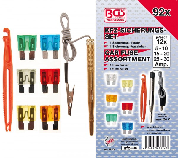 BGS 8124 KFZ-Sicherungssatz, 92-tlg.