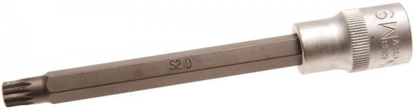 BGS 4333 Bit-Einsatz, Innenvielzahn M9 x 140 mm, 12,5(1/2)