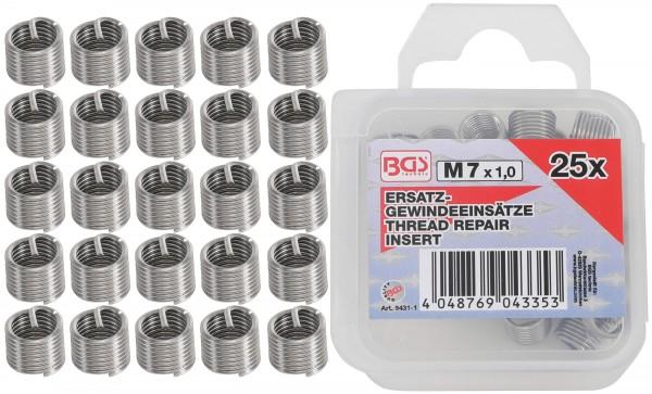 BGS 9431-1 25 Ersatz-Gewindeeinsätze, M7 x 1.0