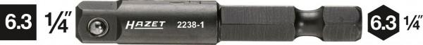 Hazet 2238-1 Verbindungsteil 63 mm 1/4 Zoll Vierkant 63 mm 1/4 Zoll