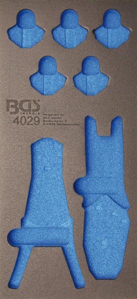 BGS 4029-1 1/3 Werkstattwageneinlage für Crimp- & Abisolierzangen, leer