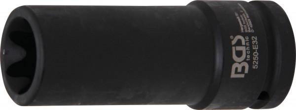 BGS 5250-E32 Kraft-Steckschlüssel-Einsatz, E-Profil, 20 (3/4), E32 x 110 mm