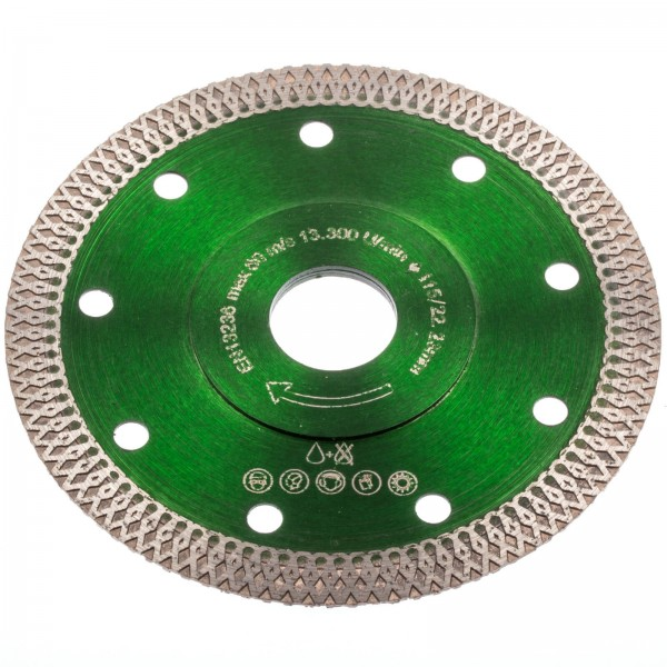 Pretool 100043 Diamant Trennscheibe 115 mm Keramik Fliesen Feinsteinzeug Granit