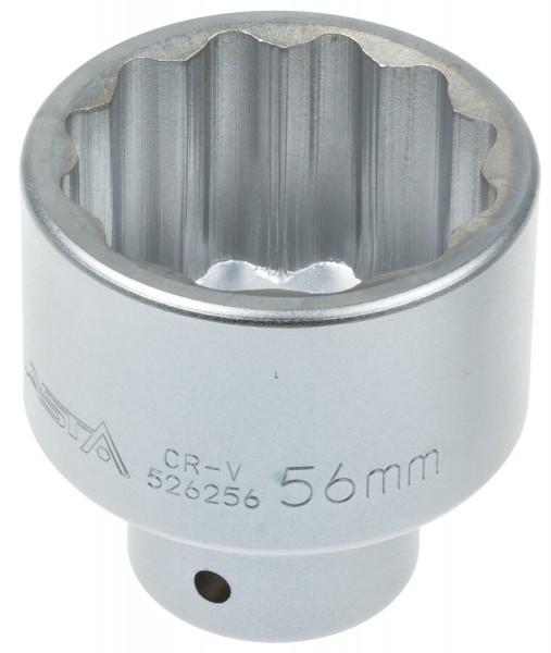 Asta 526256 Vielzahn Steckschlüssel SW 56 mm