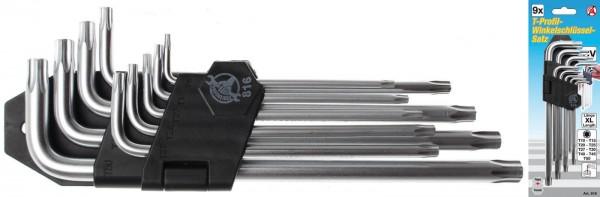 BGS 816 T-Profil-Winkelschlüssel-Set T10 - T50, 9-tlg.
