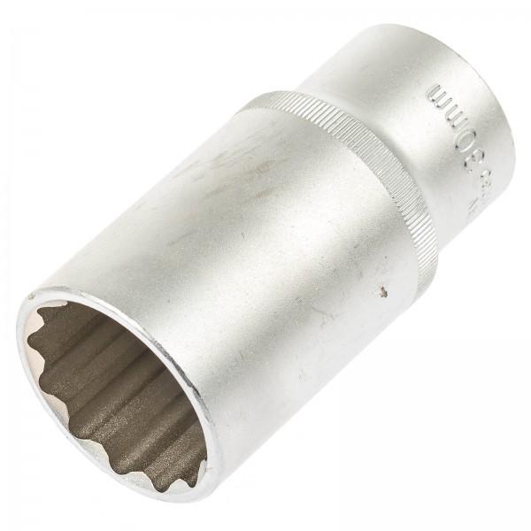 """Asta 544230 Außen Vielzahn Steckschlüssel SW 30 mm 1/2"""" 77 mm Länge"""