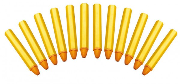 BGS 8823 Reifen Stifte gelb, 12 Stück Fettstifte Fettsignierstifte