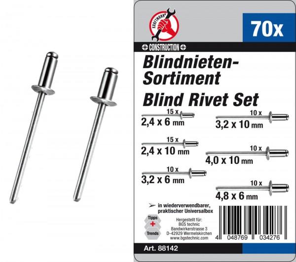 BGS 88142 Blindnieten-Sortiment 70-tlg.