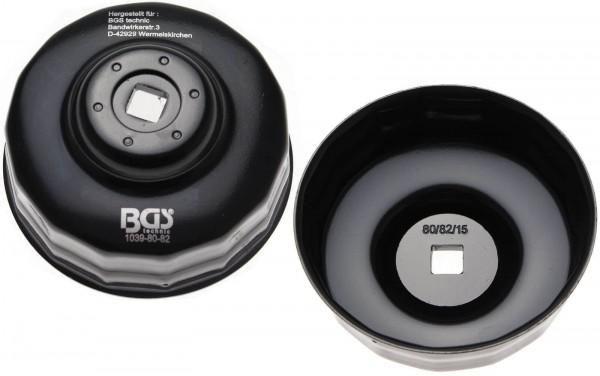 BGS 1039-80/82-15 Ölfilterkappe 15-kant