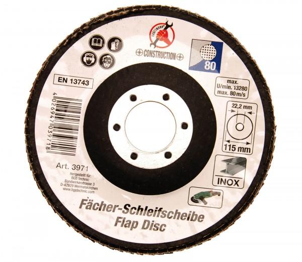 BGS 3971 Fächerscheibe, Ø 115 mm, Körnung 80