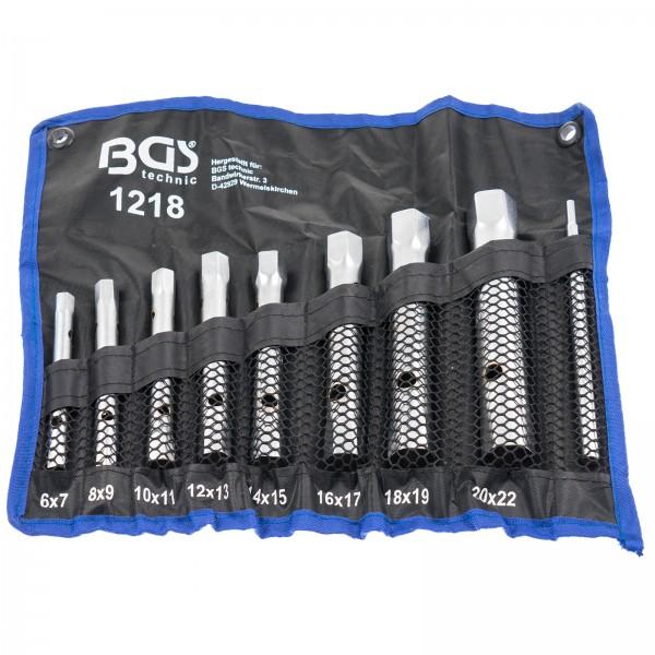 BGS 1218 Rohrsteckschlüssel Satz 8-tlg. 6-22 mm