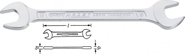 Hazet 450N-17X19 Doppel-Maulschlüssel s 17 mm s 19 mm