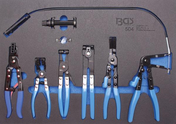 BGS 504 Schlauchklemmenzangen-Set in Werkstattwageneinlage