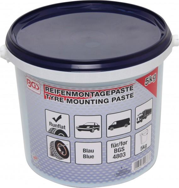 BGS 9383 Reifenmontagepaste, blau für Run-Flat-Reifen, 5 Kg Eimer