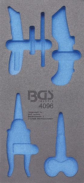 BGS 4096-1 1/3 Werkstattwageneinlage, leer für: Messer und Scheren, 6-tlg.