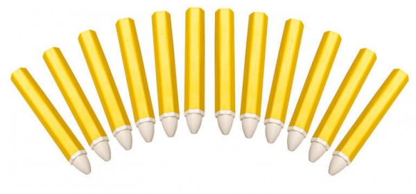 BGS 8822 Reifen Stifte weiß, 12 Stück Fettstifte Fettsignierstifte