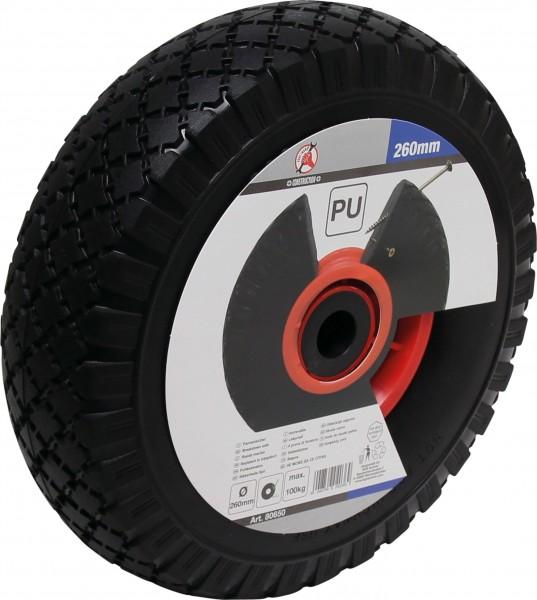 BGS 80650 PU-Rad für Sackkarre / Bollerwagen, rot/schwarz, 260 mm