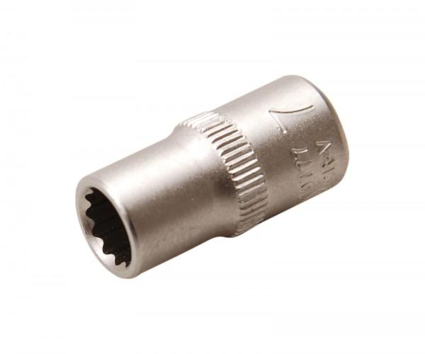 BGS 10777 Steckschlüssel-Einsatz, 6,3 (1/4), 12-kant, 7 mm