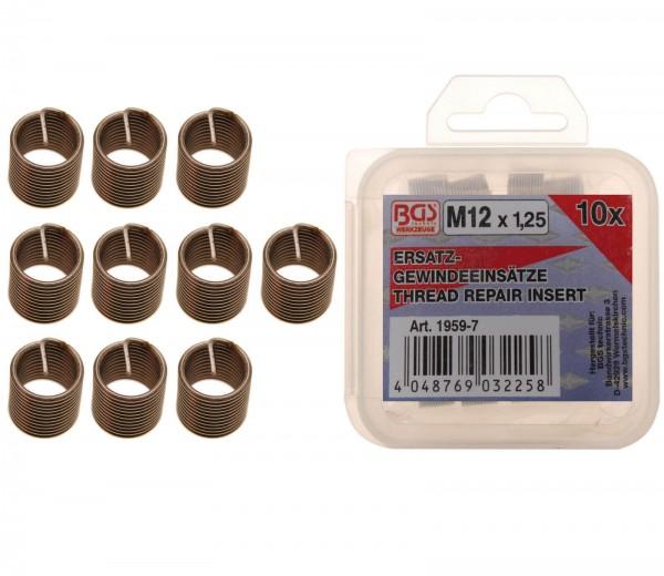 BGS 1959-7 10 Ersatz-Gewindeeinsätze, M12x1,25