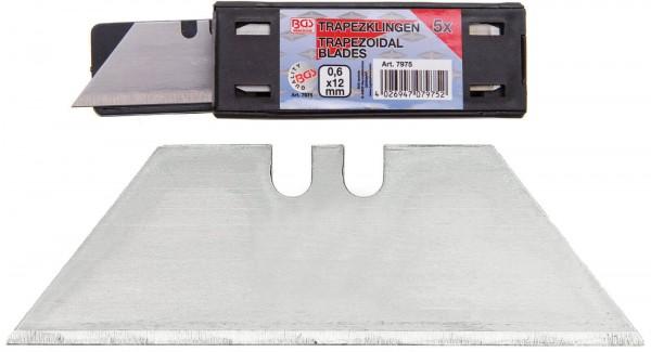 BGS 7975 Trapezklingen, 0,6 mmx12 mm, 5er Set