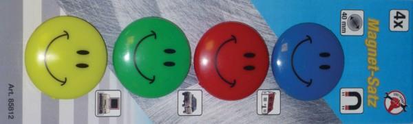 "BGS 85812 Magnet-Satz ""Smile"", Ø 40 mm, 4-tlg."
