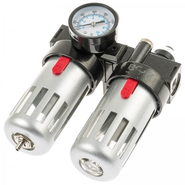 BGS 8603 Druckluft Wartungseinheit mit Öler und Druckregler