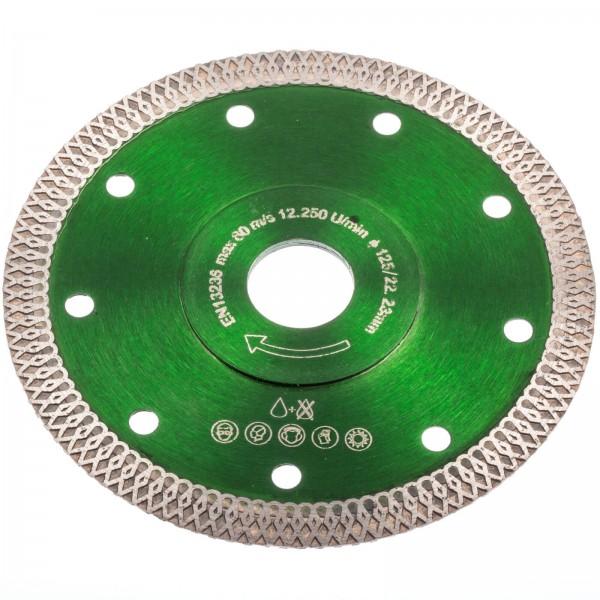 Pretool 100050 Diamant Trennscheibe 125 mm Keramik Fliesen Feinsteinzeug Granit