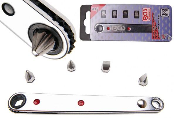 BGS 115 Mini Ratschen-Schlüssel Extra Dünn