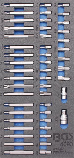 BGS 4093 1/3 Werkstattwageneinlage: Kombi-Bit-Set, 49-tlg.