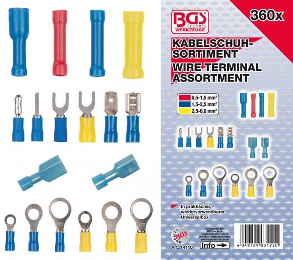BGS 14110 Kabelschuh-Sortiment, 360-tlg.