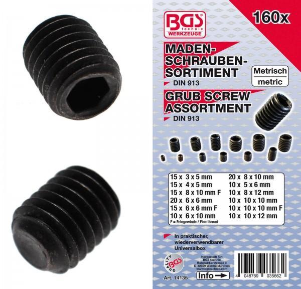 BGS 14135 Madenschrauben-Sortiment, 160-tlg.