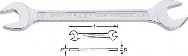 Hazet 450NA-1/4X5/16VKH Doppel-Maulschlüssel s 1/4 s 5/16