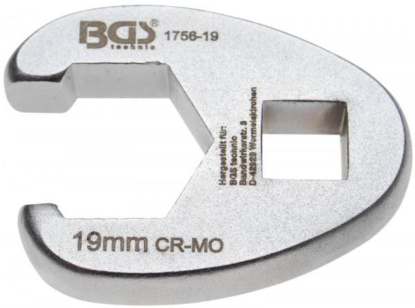 BGS 1756-19 Hahnenfuß-Schlüssel 10 (3/8), 19 mm