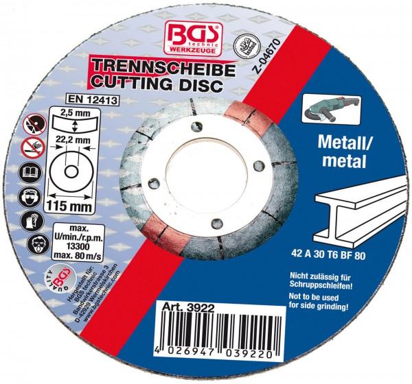 BGS 3922 Trennscheibe für Metall 115 x 2,5 mm, Typ 42